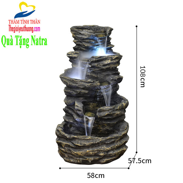 Kích thước Thác nước phong thủy 5 Tầng thác đổ